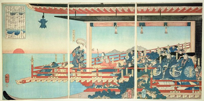 Kiyomori Arresting the Sunset by Incantations. Utagawa Kuniyoshi