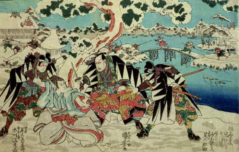 The Chushingura, the story of the forty seven ronin - masterless samurai. Utagawa Kuniyoshi