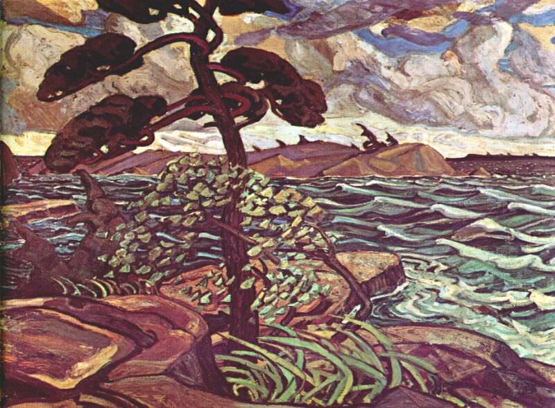a september gale, georgian bay 1921. Arthur Lismer