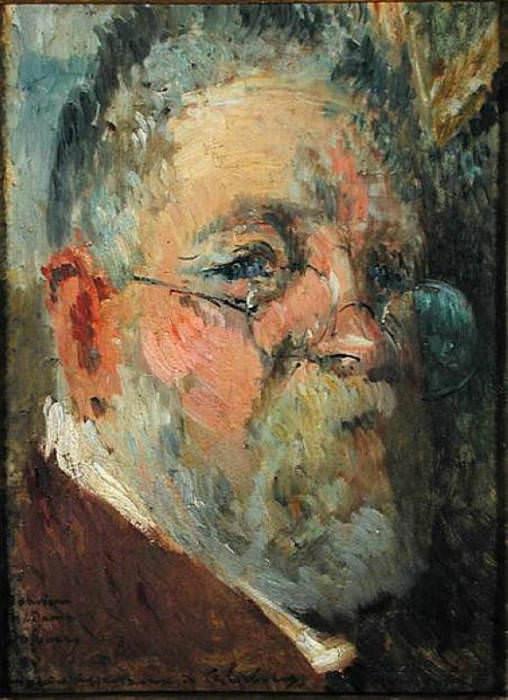 Self Portrait. Albert-Charles Lebourg