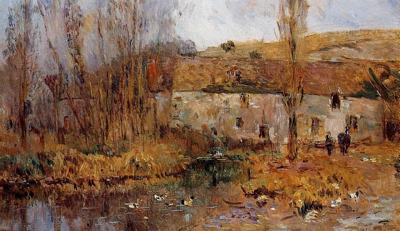 Mill in Normandy. Albert-Charles Lebourg