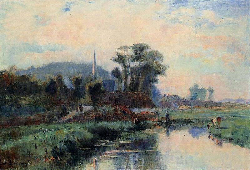 The Banks of the Durdent. Albert-Charles Lebourg