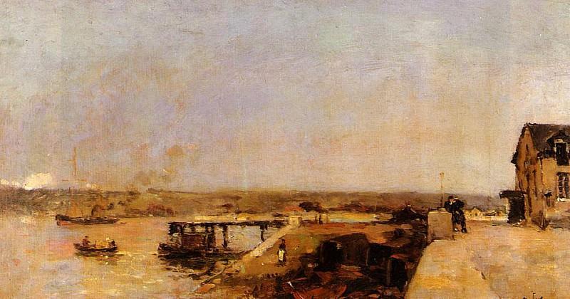 Port Scene Rouen. Albert-Charles Lebourg