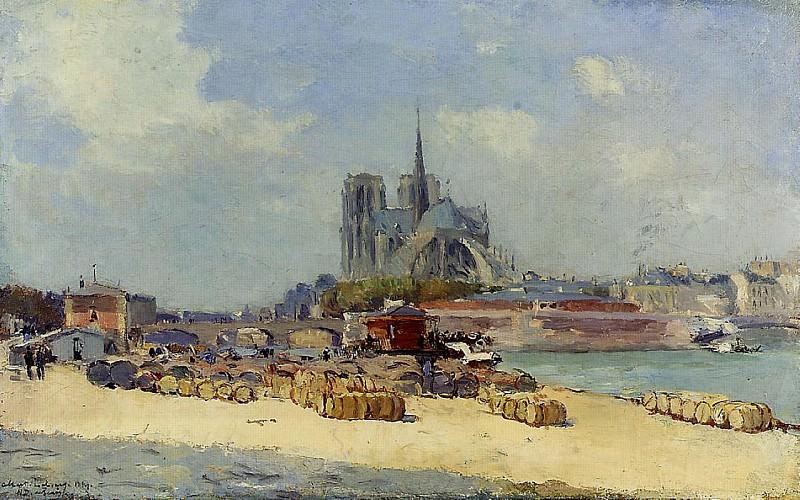 Notre Dame Paris 1897. Albert-Charles Lebourg