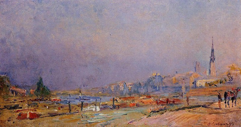 The Banks of the Seine at Rouen. Albert-Charles Lebourg