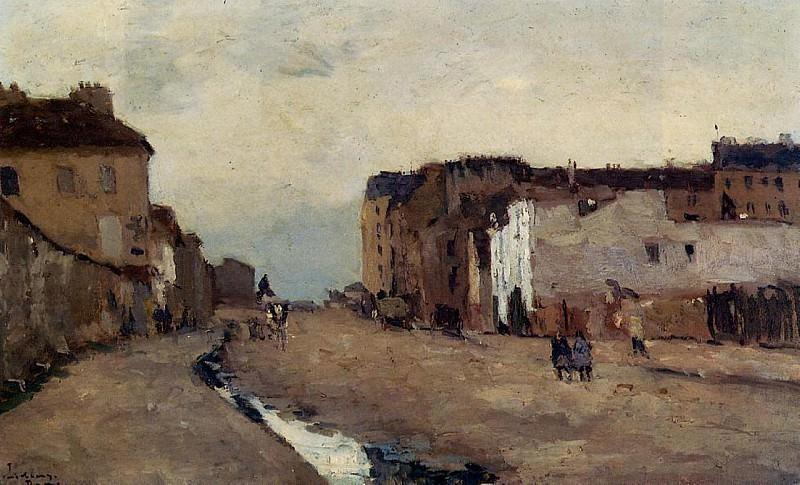 A Street in Bercy. Albert-Charles Lebourg