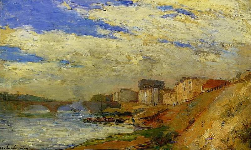 Le Pont de Neuilly a Courbevoie 1890. Albert-Charles Lebourg