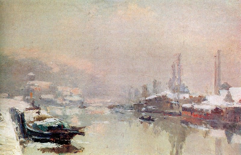Island Lacrouix in Snow. Albert-Charles Lebourg