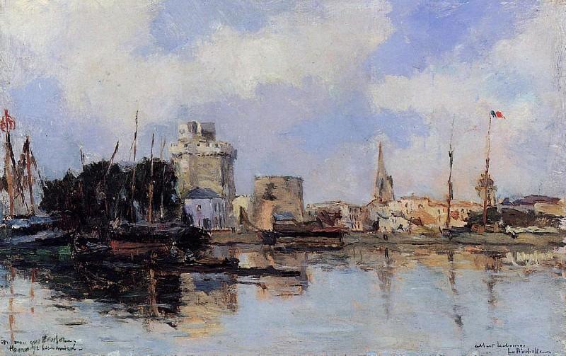 La Rochelle the Harbor Bright Sky. Albert-Charles Lebourg
