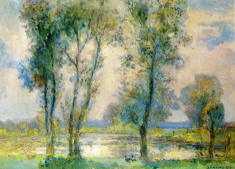 Близ озера, 1909. Альбер-Шарль Лебур