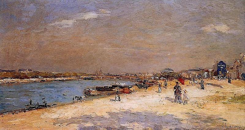 Разгрузка барж с песком в порту Берси. Альбер-Шарль Лебур
