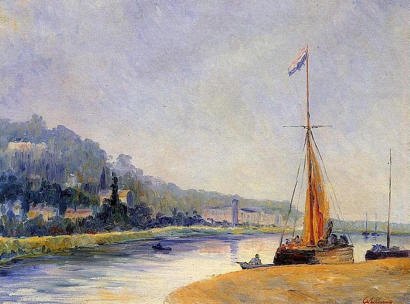 Banks of the River. Albert-Charles Lebourg