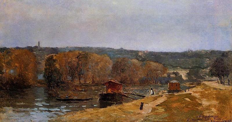 Billancourt Landscape. Albert-Charles Lebourg