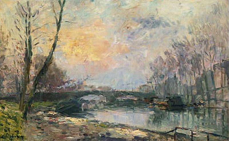 View of the Seine Paris Vue de La Seine Paris. Albert-Charles Lebourg