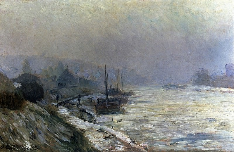 The Seine in Winter 1899. Albert-Charles Lebourg