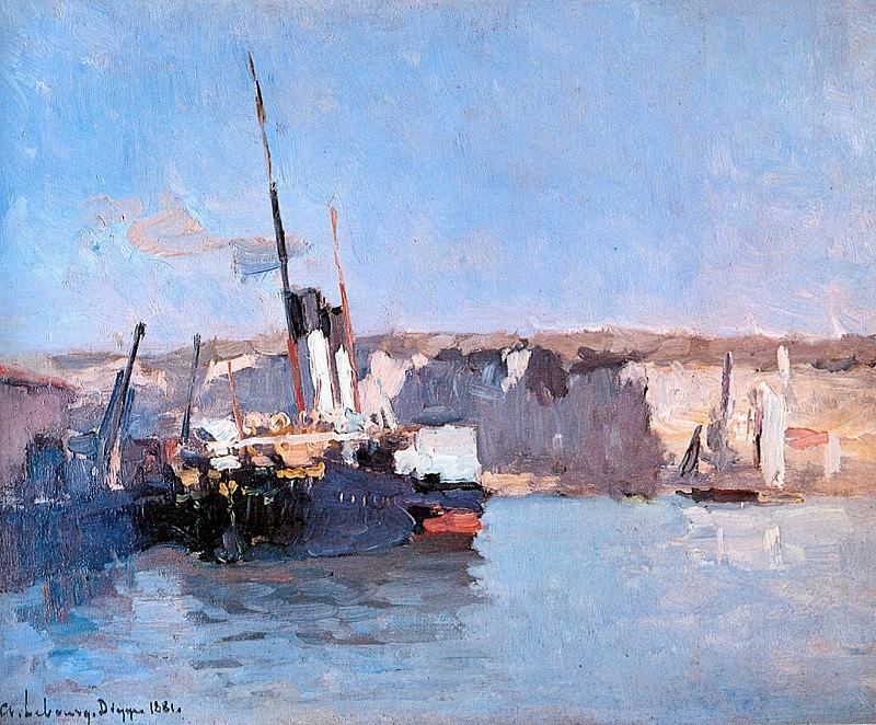 Dieppe Vapeur Amarre 1881. Albert-Charles Lebourg