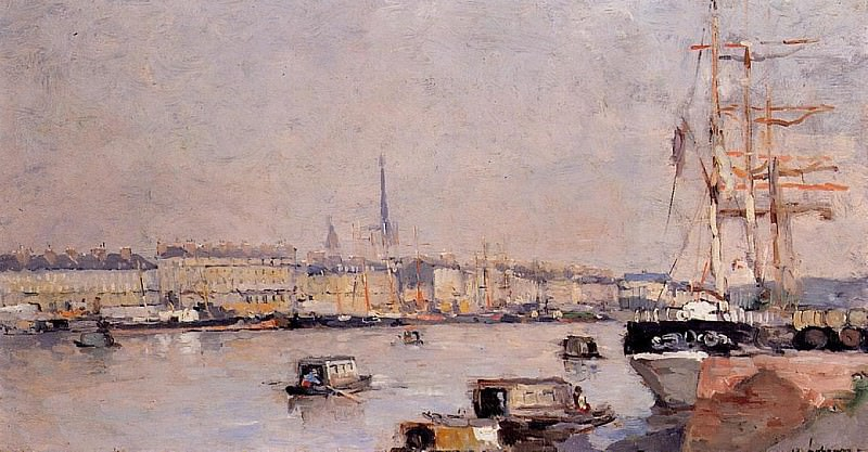 The Port of Rouen with Cathedral. Albert-Charles Lebourg