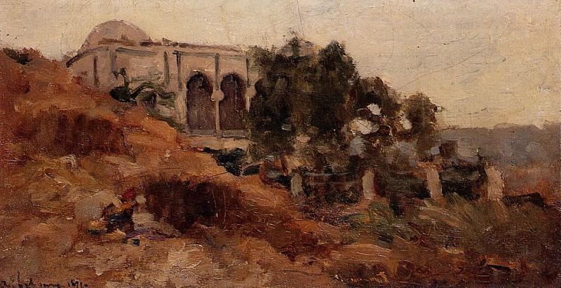 Moorish House in Algiers. Albert-Charles Lebourg