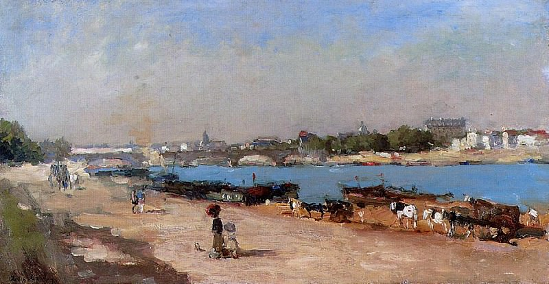 The Banks of the Seine at Bercy. Albert-Charles Lebourg