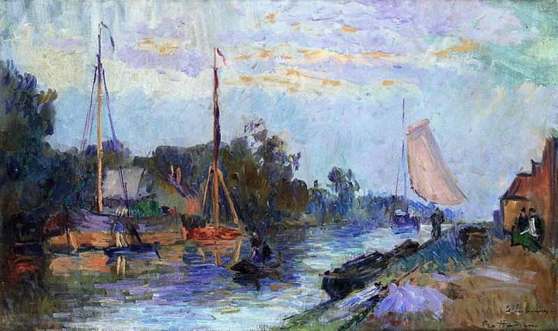 Rotterdam View of Vleuve Schie. Albert-Charles Lebourg