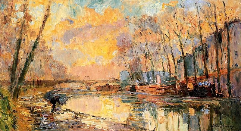 The Canal at Charenton. Albert-Charles Lebourg