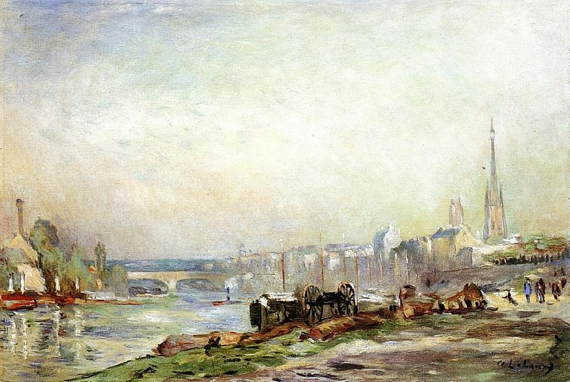 Rouen the Seine and the Cathedral. Albert-Charles Lebourg