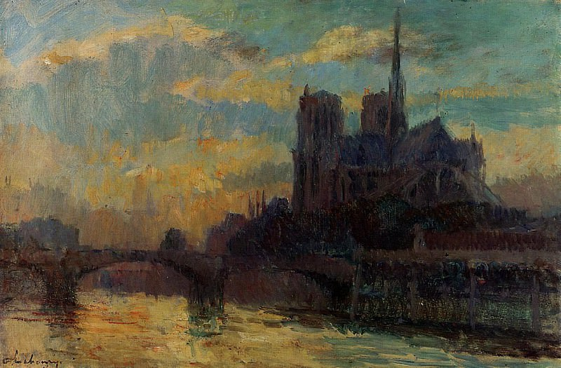 Notre Dame Paris. Albert-Charles Lebourg