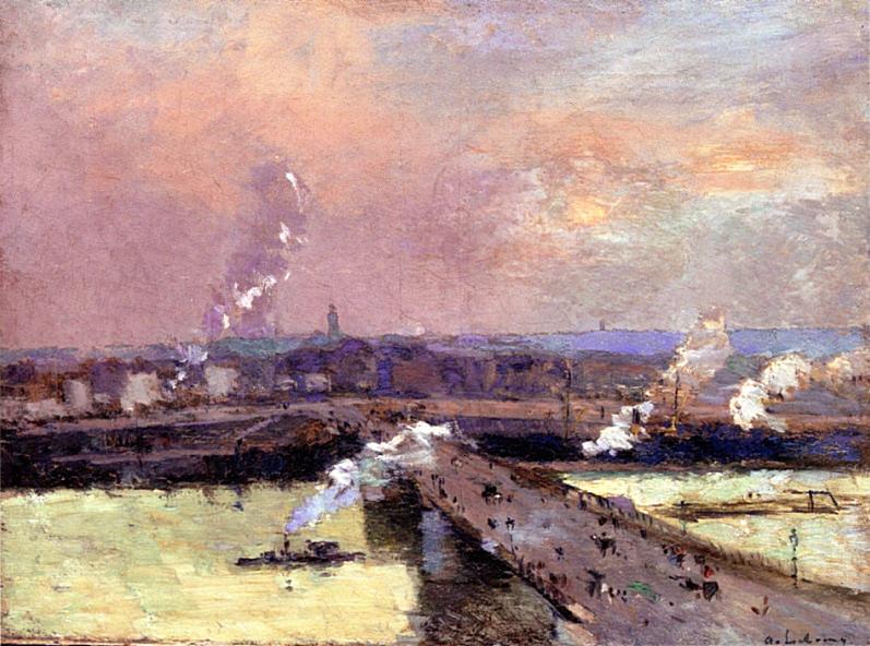 The Pont Boieldieu Rouen. Albert-Charles Lebourg