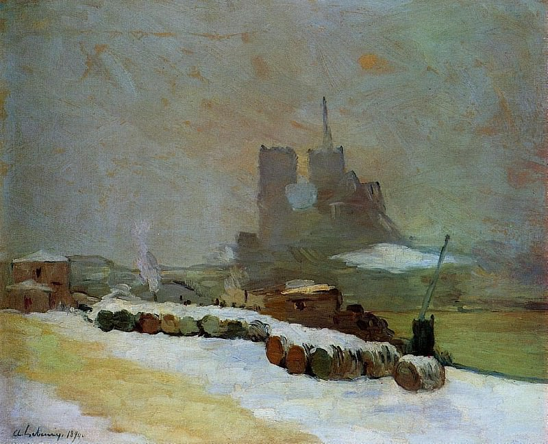 View of Notre Dame Winter 1894. Albert-Charles Lebourg