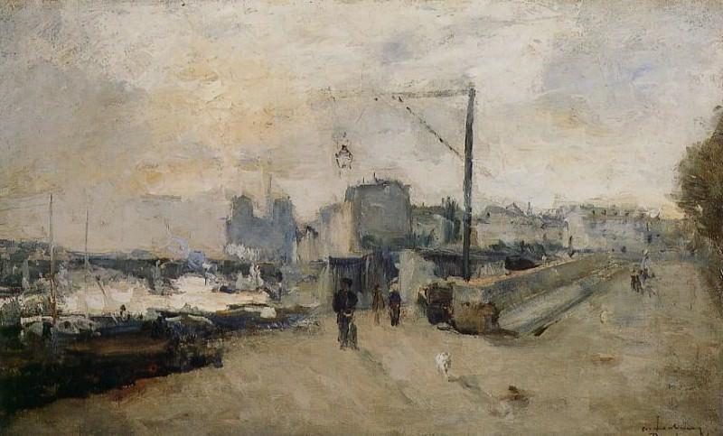Notre Dame de Paris vue de la Cite 1878. Albert-Charles Lebourg
