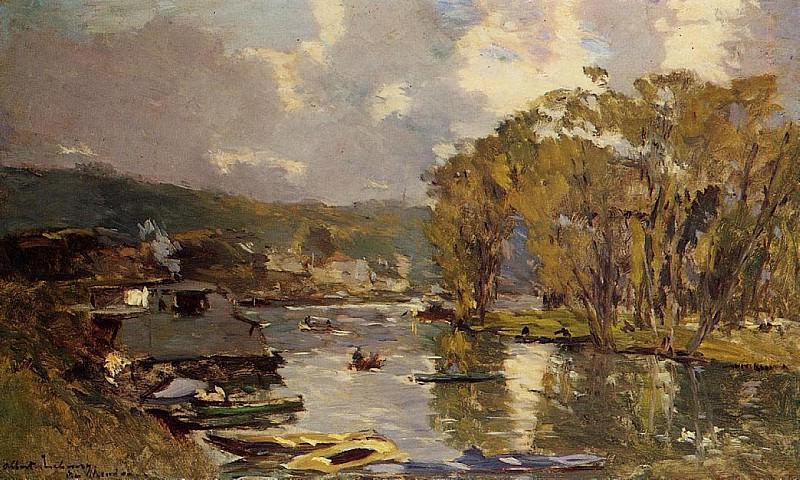The Small Art of the Saine at Bas Meudon in Autumn Evening. Albert-Charles Lebourg