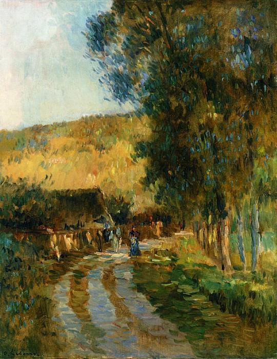 Road in the Vallee de LIton. Albert-Charles Lebourg