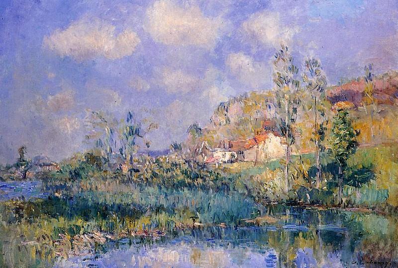 The Pond at Eysies. Albert-Charles Lebourg