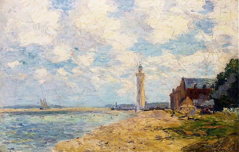 The Mouth of the Seine Honfleur. Albert-Charles Lebourg