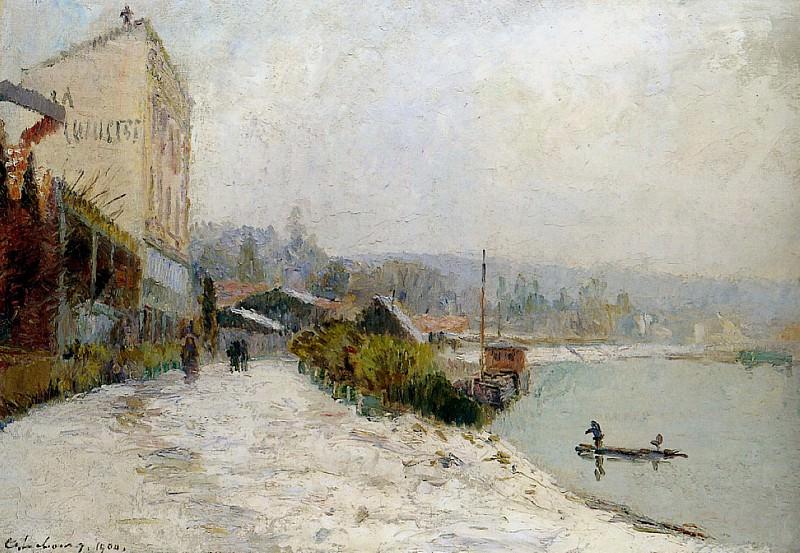 Le Seine au Bas Meudon 1904. Albert-Charles Lebourg