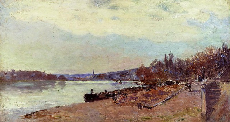 The Seine at Suresnes. Albert-Charles Lebourg