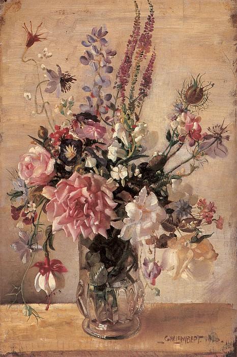 Букет садовых цветов. Джордж Ламберт