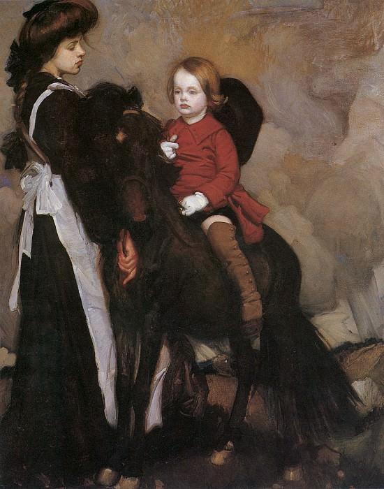 Портрет мальчика на коне. Джордж Ламберт