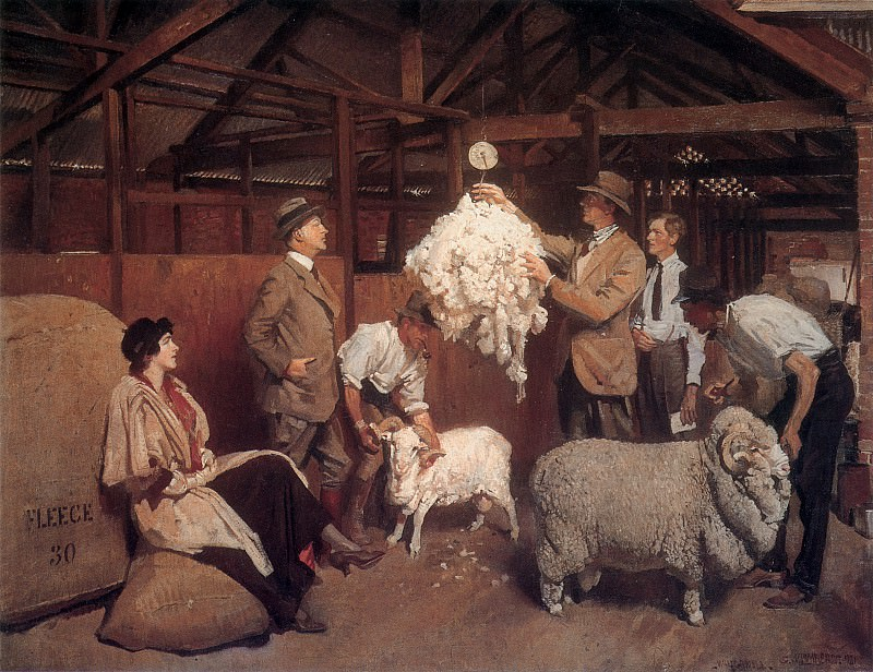 Weighing the Fleece. George Lambert
