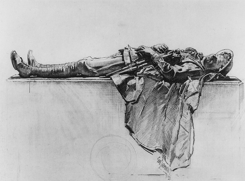 Recumbent Figure of a Soldier. George Lambert