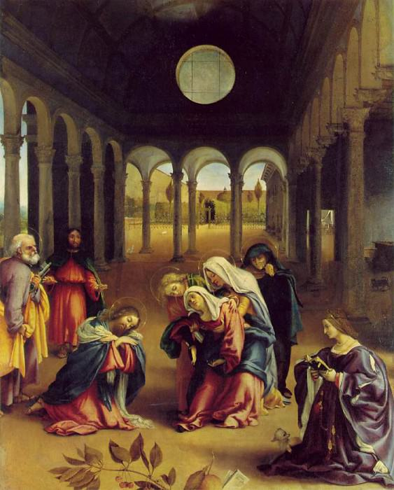Christ taking leave of his mother, 1521, 126x99 cm, Ge. Lorenzo Lotto