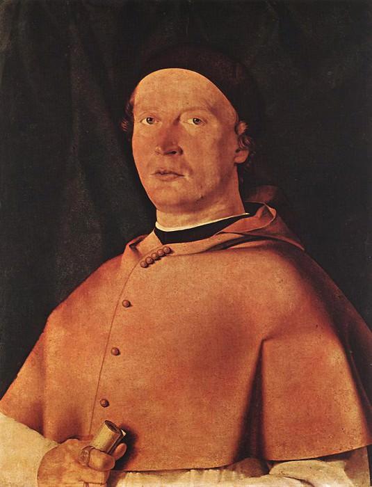Bishop Bernardo de Rossi. Lorenzo Lotto