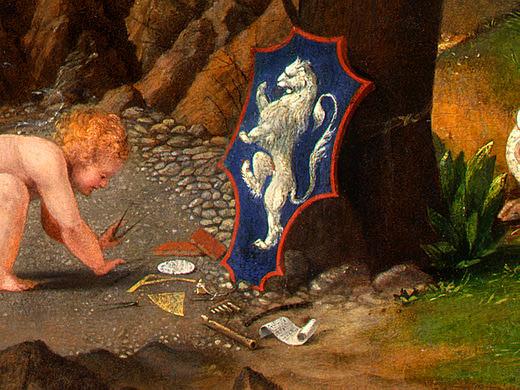 ALLEGORY OF VIRTUE AND VICE, 1505, DETALJ. Lorenzo Lotto