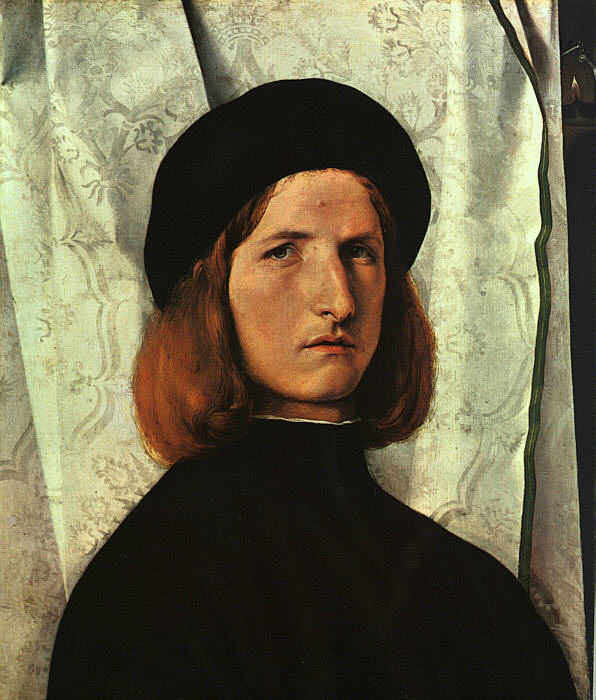 PORTRAIT OF A YOUNG MAN, 1508, ART HISTORY MUSEUM, VIE. Lorenzo Lotto