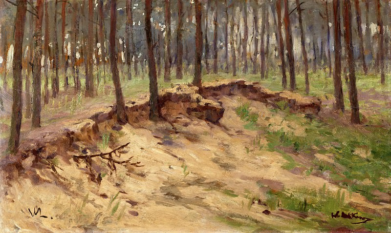 Forest with sand pit. Walter Leistikow