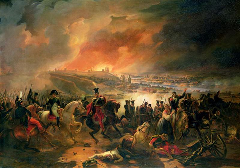 The Battle of Smolensk, 17th August 1812. Jean Charles Langlois