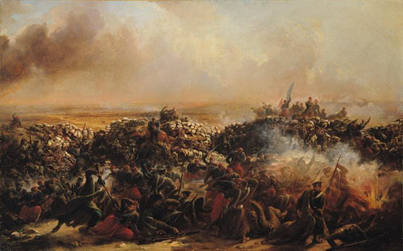 The Battle of Sebastopol, central section of triptych. Jean Charles Langlois