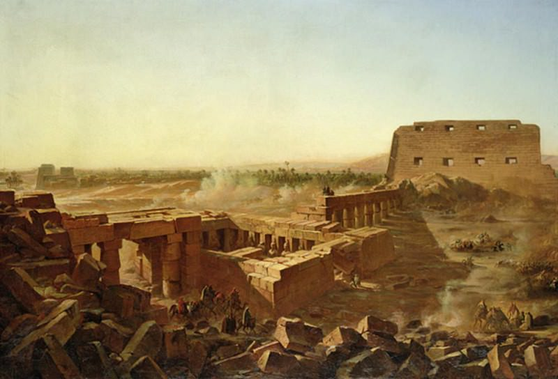 The Battle at the Temple of Karnak: The Egyptian Campaign. Jean Charles Langlois