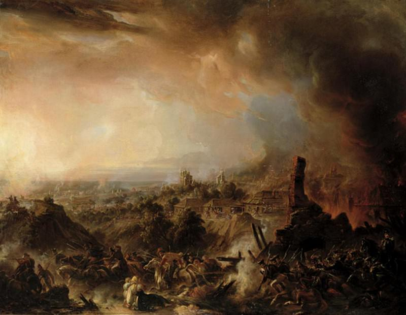 The Burning of Moscow in 1812. Jean Charles Langlois