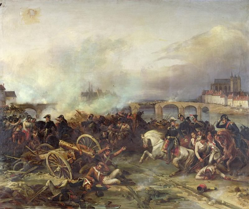 Battle of Montereau, 18th February 1814. Jean Charles Langlois